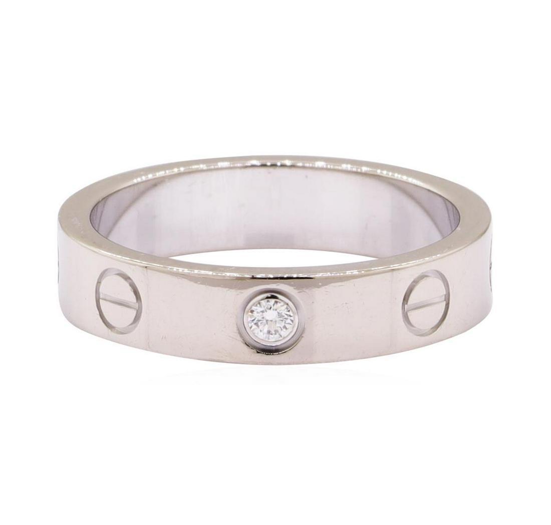 Cartier 0.05 ctw Diamond Love Ring - 18KT White Gold
