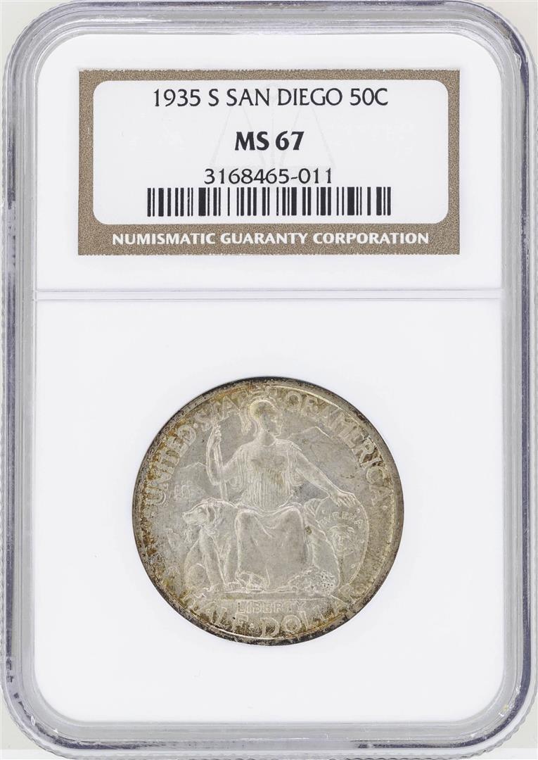 1935-S San Diego Commemorative Half Dollar Coin NGC