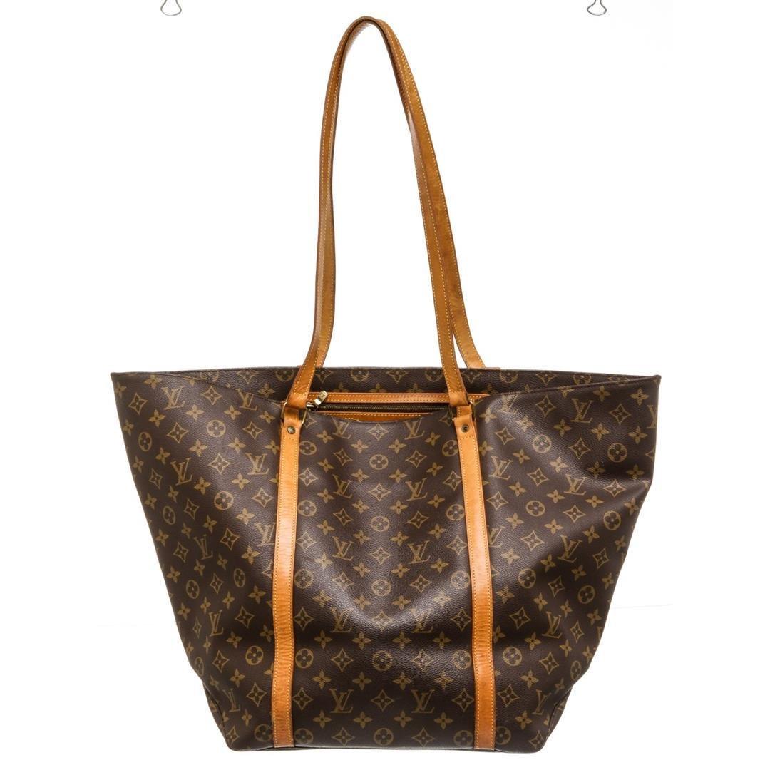 Louis Vuitton Monogram Canvas Leather Sac Shopping GM