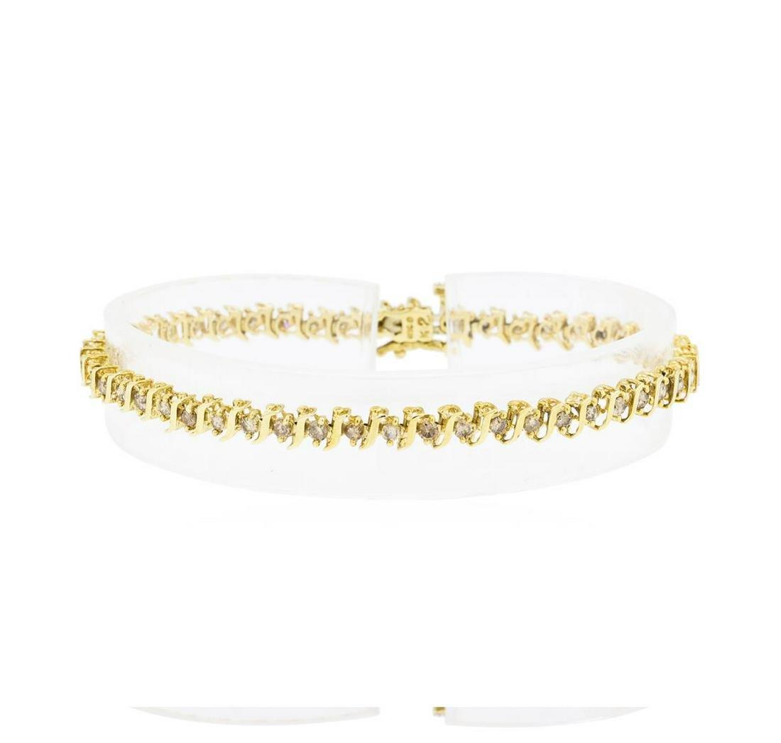 2.00 ctw Diamond Tennis Bracelet - 10KT Yellow Gold