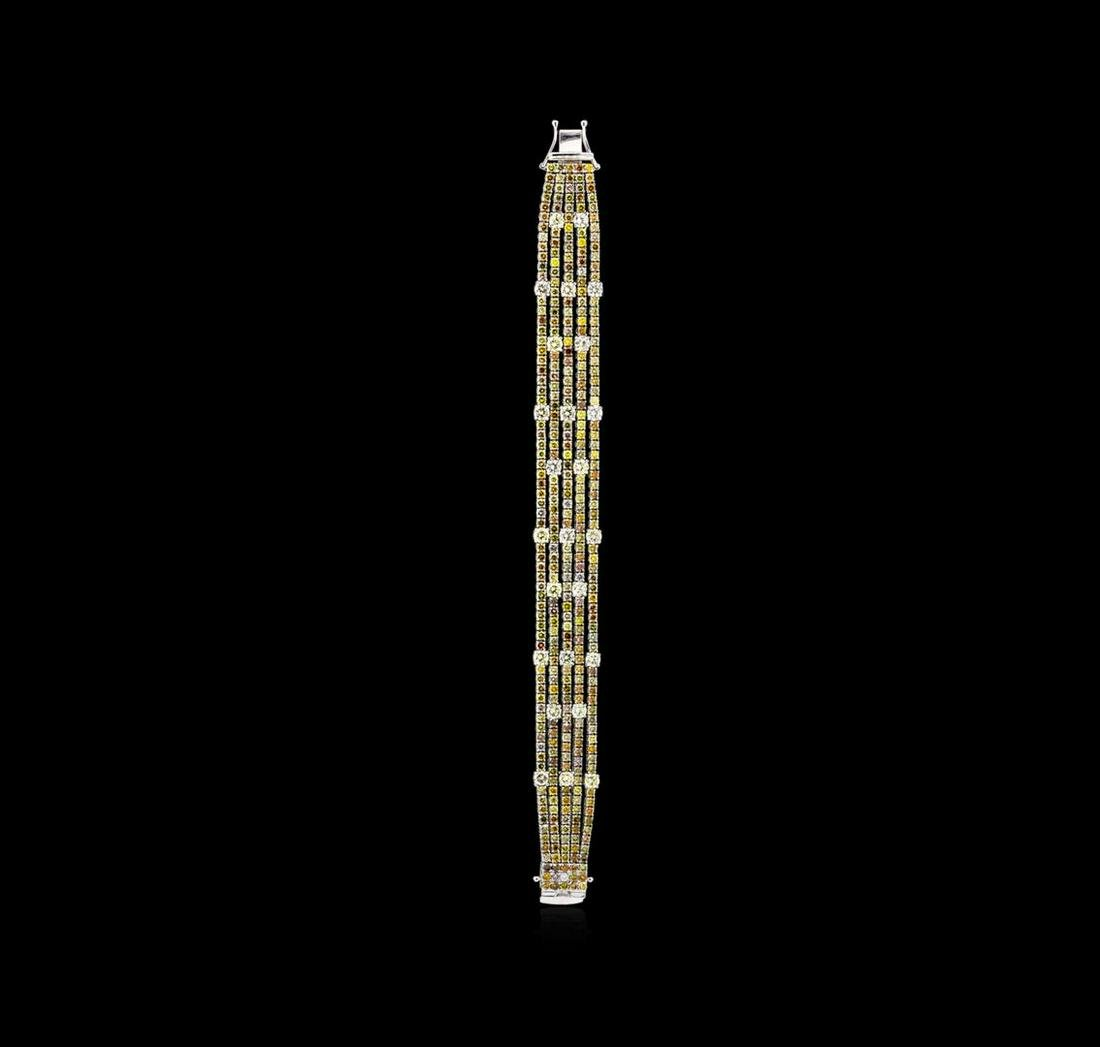 18KT White Gold 19.79tcw Diamond Ribbon Bracelet