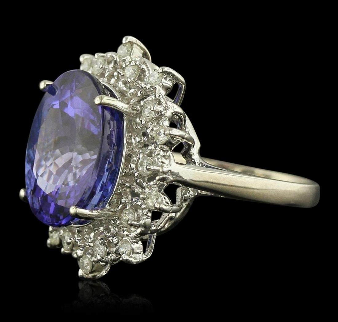 14KT White Gold 11.08 ctw GIA Certified Tanzanite and