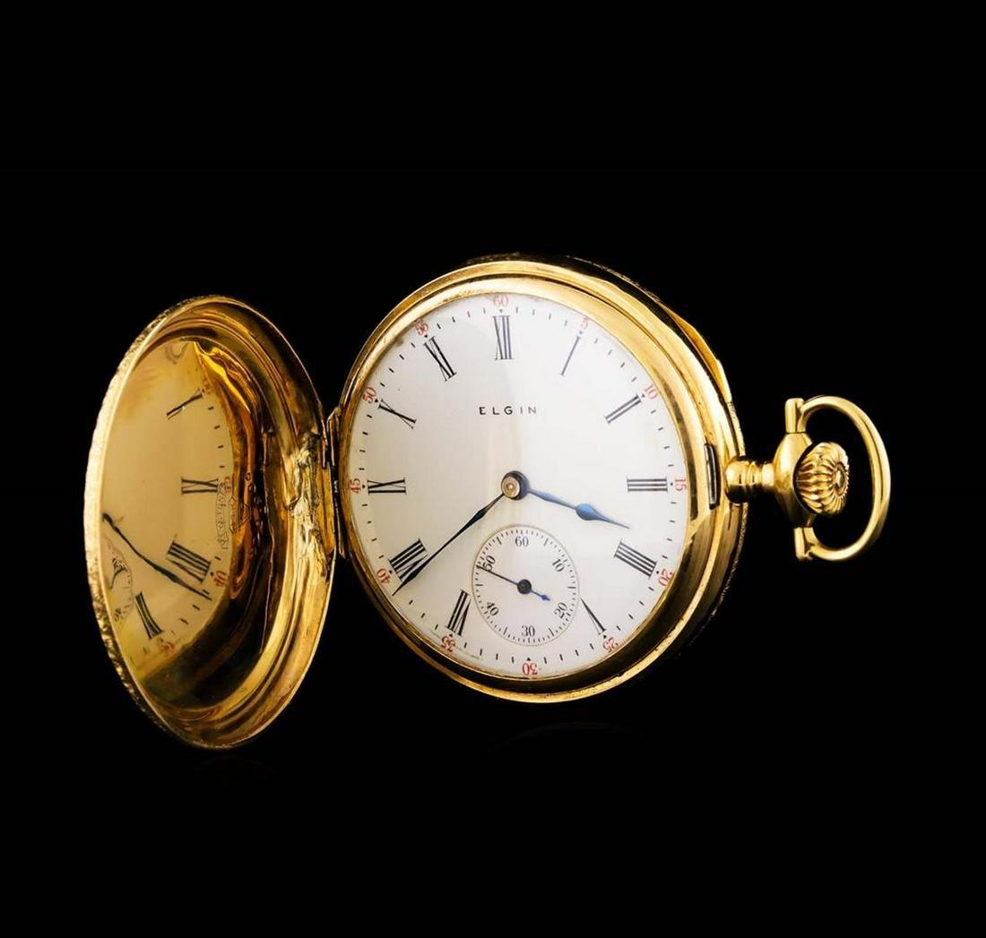 Elgin 14KT Yellow Gold Full Hunter Antique Pocketwatch