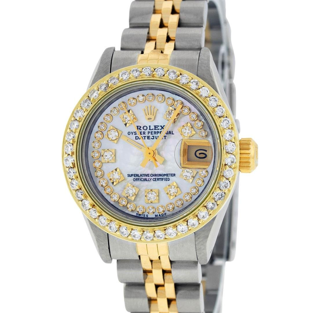 Rolex Ladies 2 Tone Mother Of Pearl String Diamond