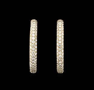 304 ctw Diamond Hoop Earrings 18KT Rose Gold