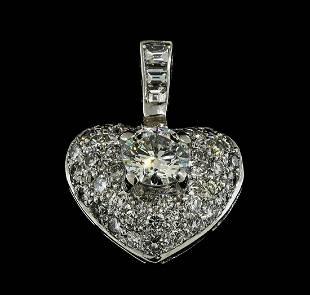 171 ctw Diamond Heart Pendant 18KT White Gold