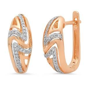 14k Gold 014CTW Diamond Earrings I1