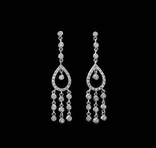 115 ctw Diamond Earrings 18KT White Gold
