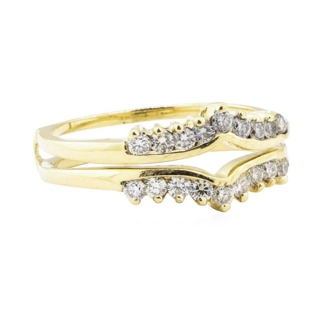 0.70 ctw Diamond Ring Guard - 14KT Yellow Gold