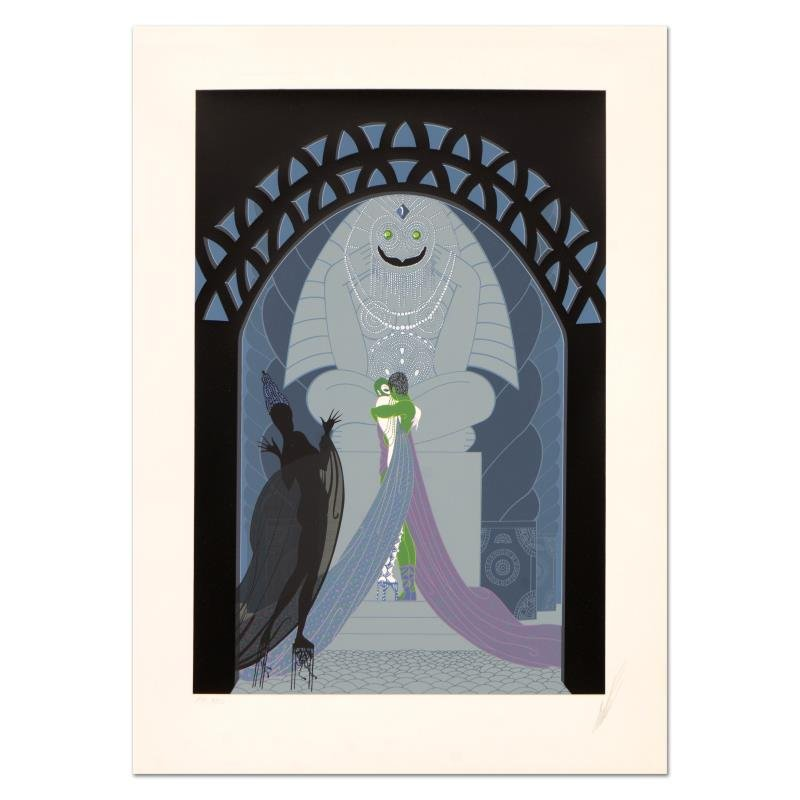 Limited Edition Lovers and Idol by Erte (1892-1990)
