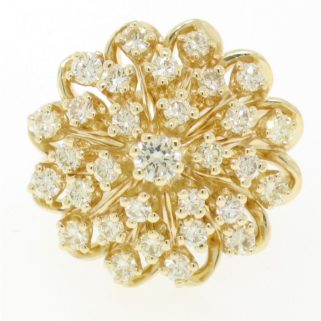 14K Solid Yellow Gold 1.01 ctw 31 Round VS1 Diamond