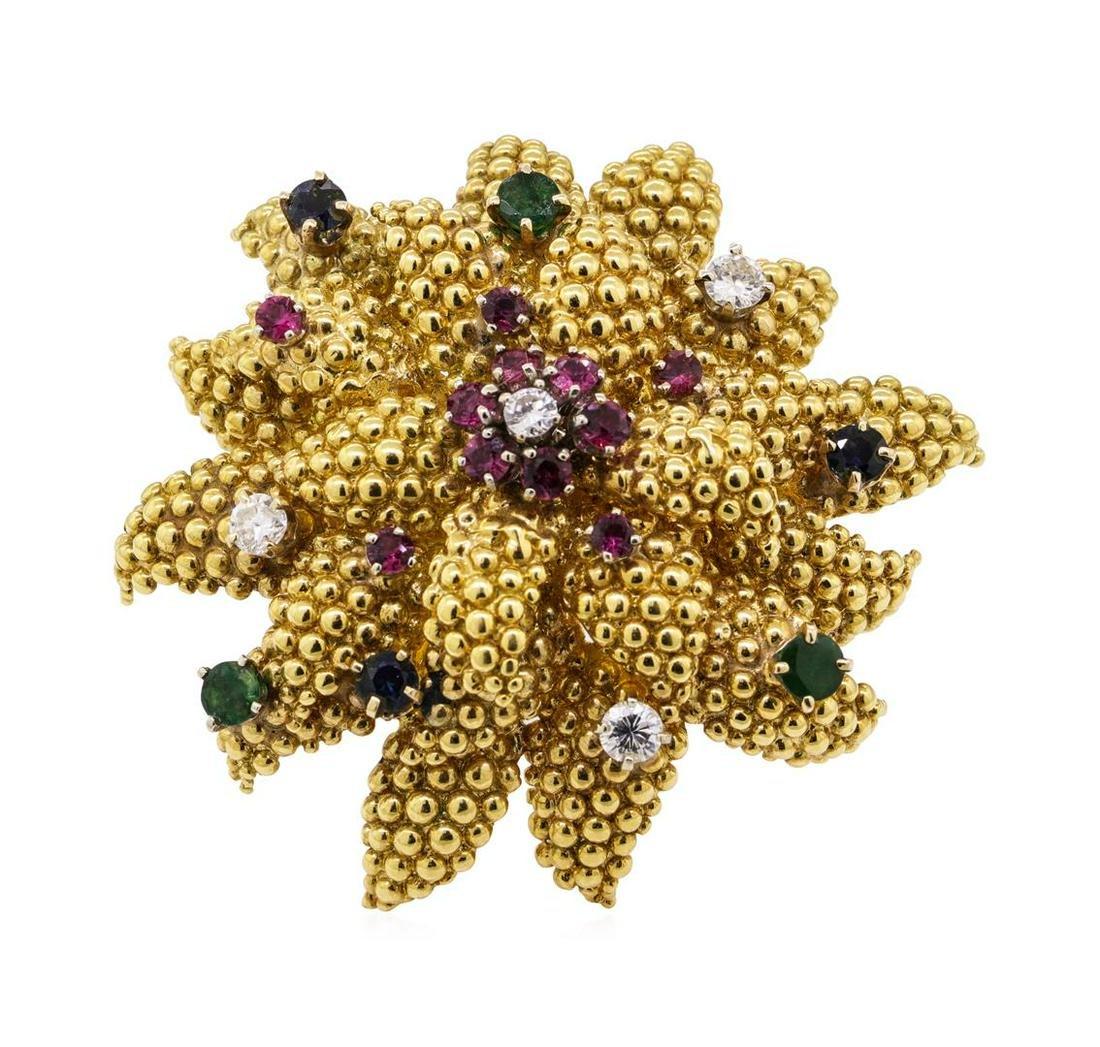 3.34 ctw Emerald, Sapphire, Ruby and Diamond