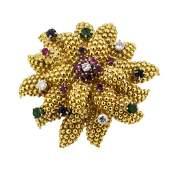 334 ctw Emerald Sapphire Ruby and Diamond