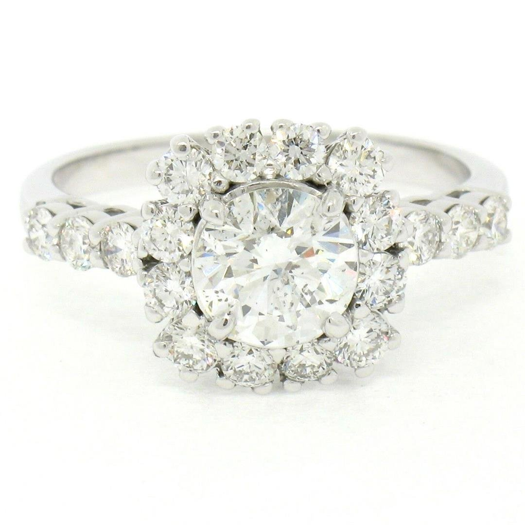 14kt White Gold 1.66 ctw GIA Certified Round Diamond