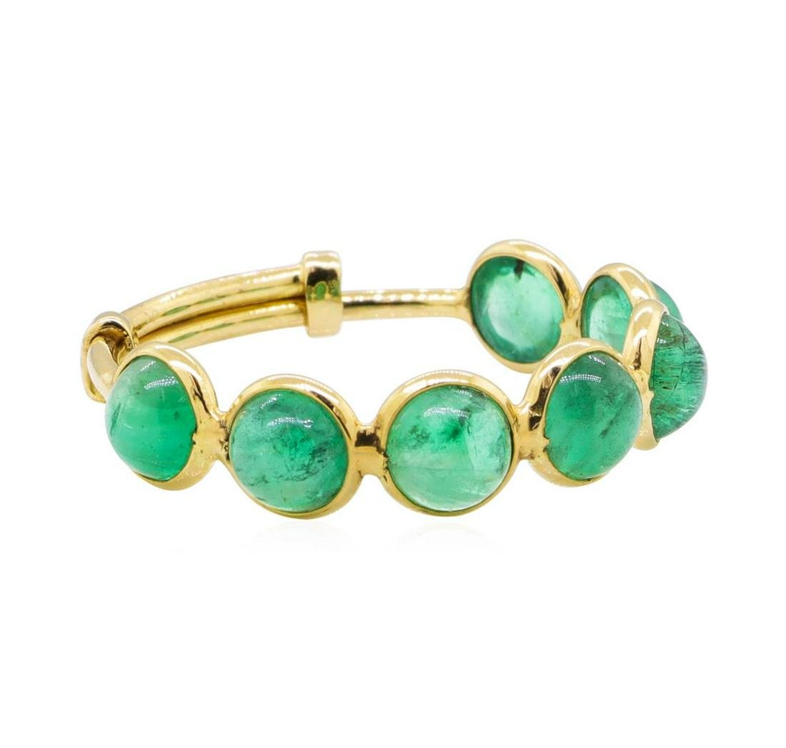 2.47 ctw Emerald Adjustable Ring - 18KT Yellow Gold