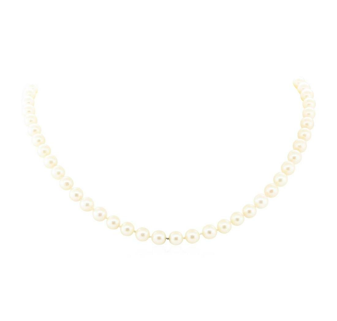 Akoya Pearl Necklace - 14KT Yellow Gold