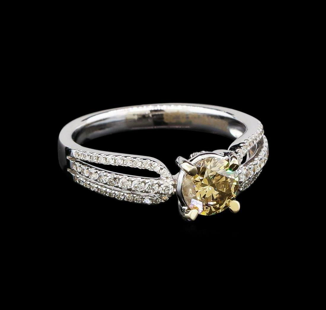 1.01 ctw Brown Diamond Ring - 18KT White Gold