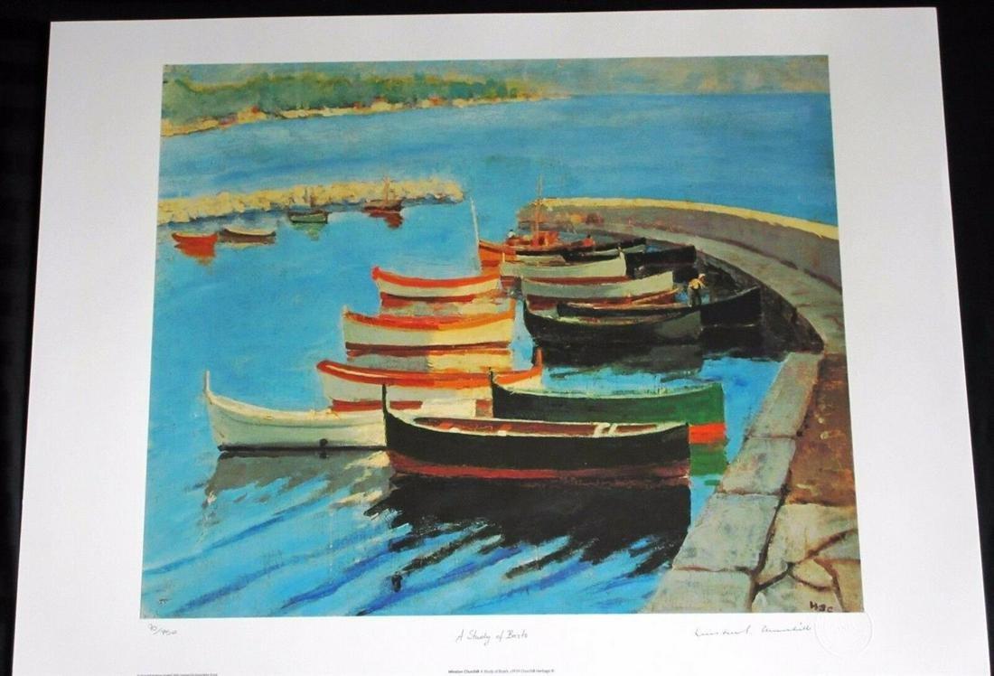 "Sir Winston Churchill ""Study of Boats"""