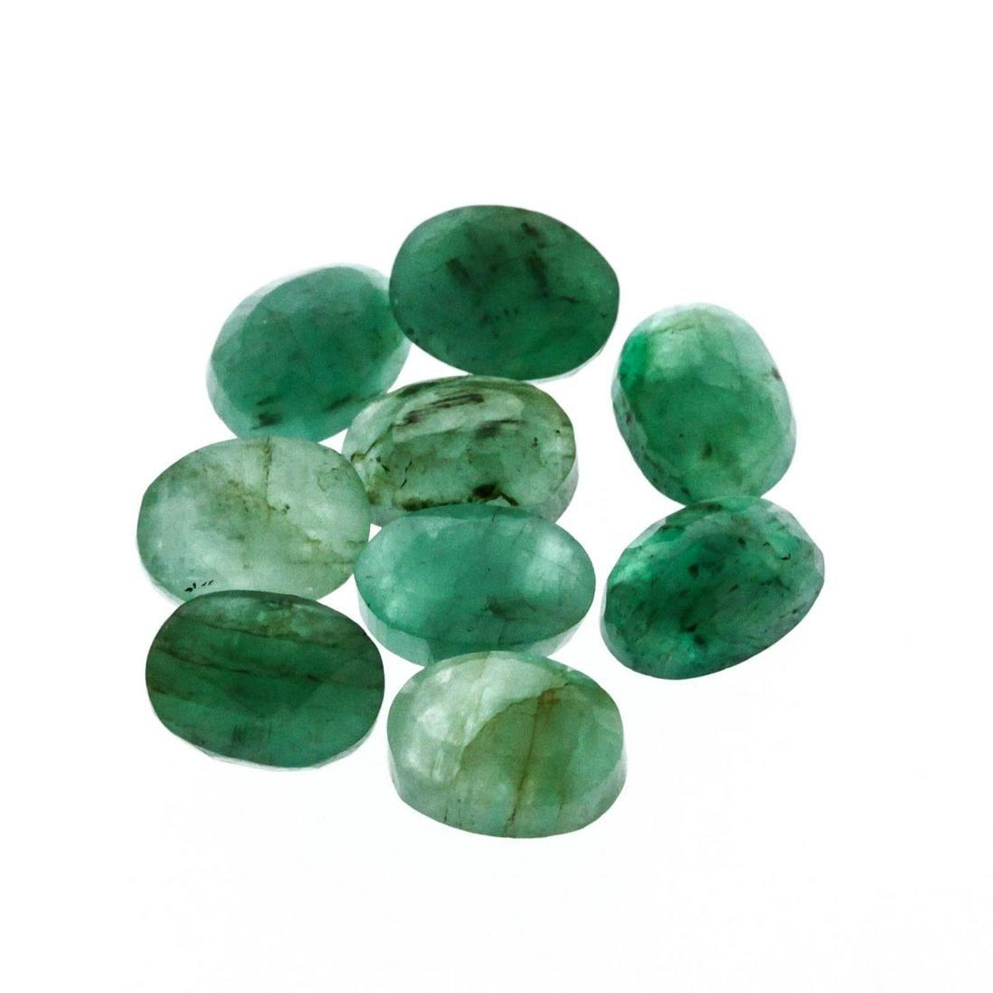 12.03 cts. Oval Cut Natural Emerald Parcel