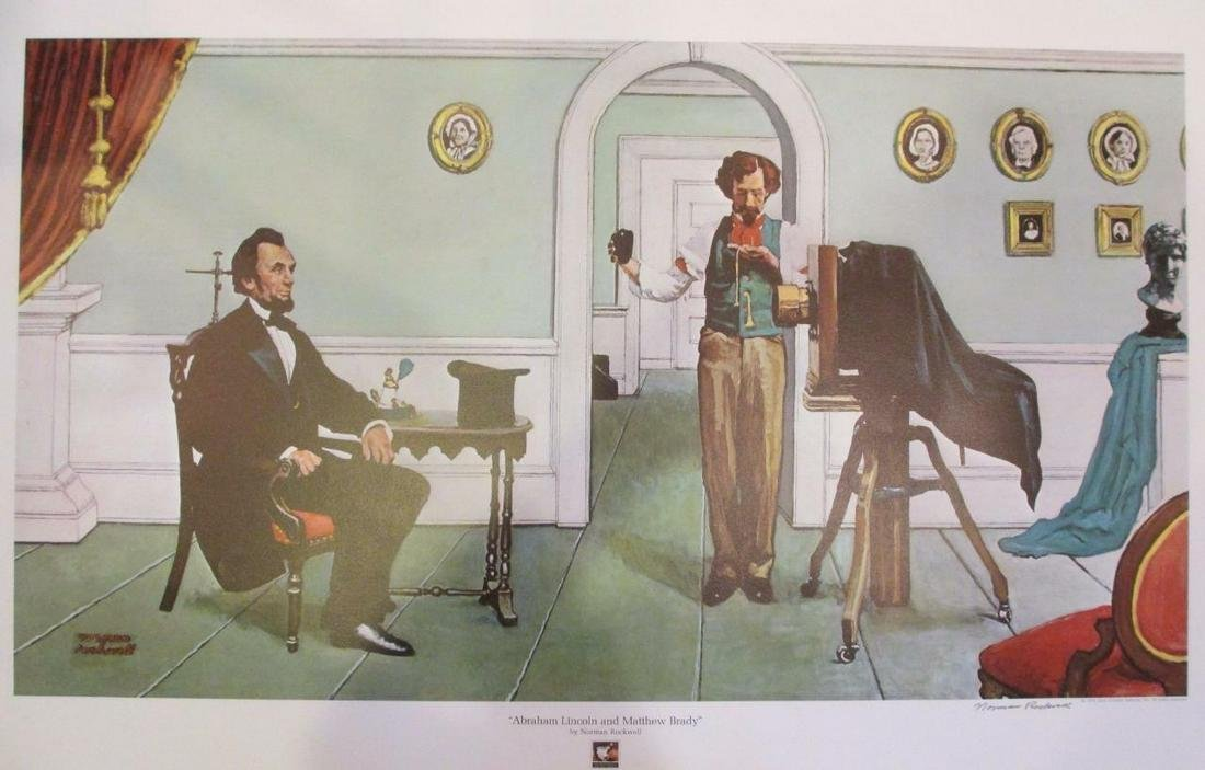 "Norman Rockwell ""Abraham Lincoln & M. Brady"""