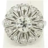 Antique Art Deco Platinum 137 ctw European Diamond