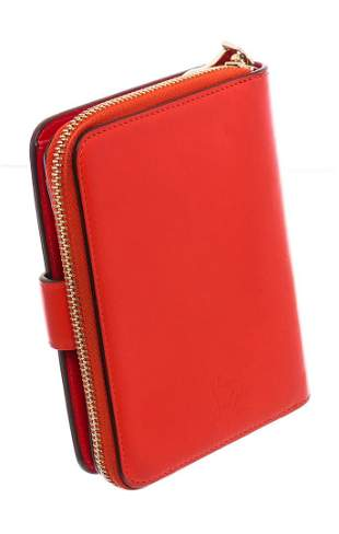 Christian Louboutin Red Leather Panettone Coin Purse