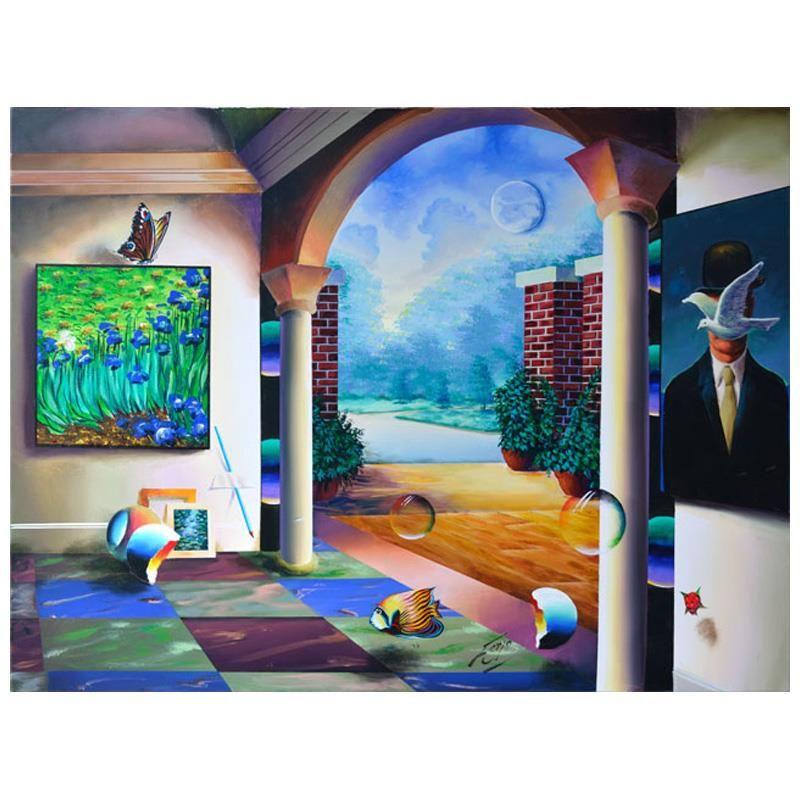 Magritte's Garden View by Ferjo Original