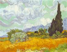 Van Gogh  Cornfield With Cyprusses