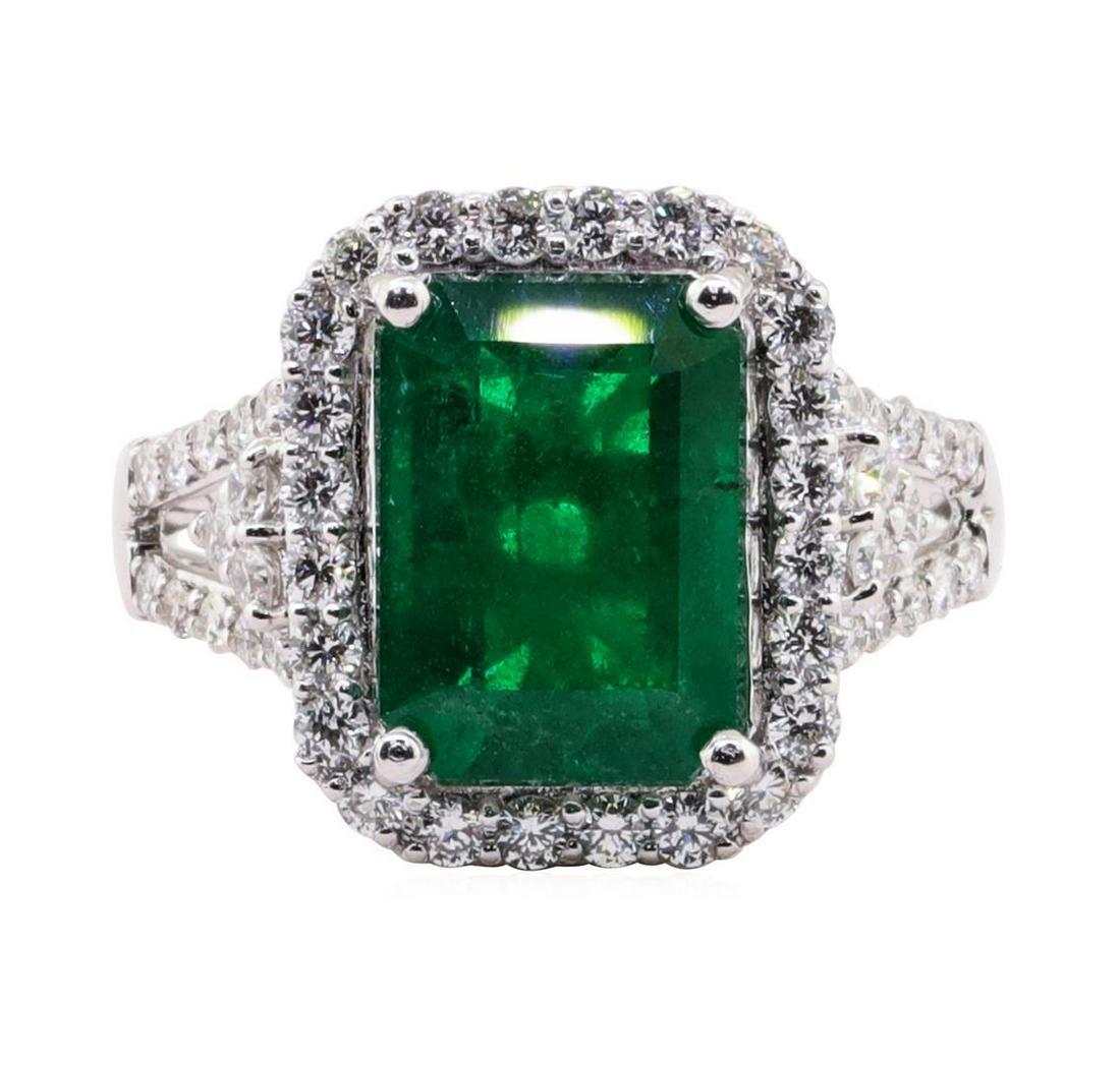 4.81 ctw Emerald and Diamond Ring - Platinum