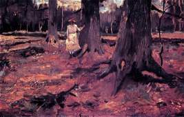 Van Gogh Girl In White In The Woods