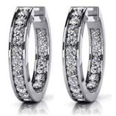 14k White Gold 075CTW Diamond Earrings VSFG
