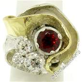 18kt Yellow Gold and Sterling Silver 273 ctw Garnet