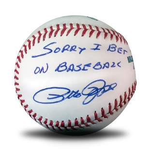 """""""Pete Rose, Sorry Ball"""" This Baseball is Autographed by"""