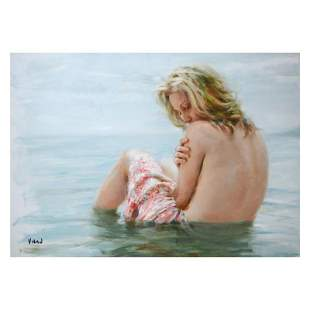 """Vidan, """"Solitude"""" Limited Edition on Canvas, Numbered"""
