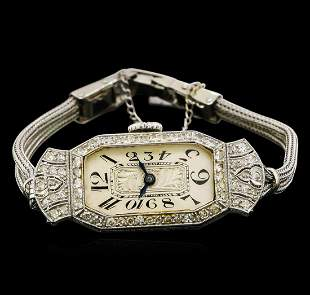 Vintage Glycine Diamond Ladies Watch