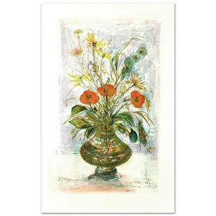 """""""Amapola"""" Limited Edition Lithograph by Edna Hibel"""