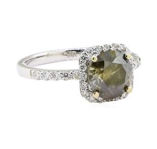 2.42 ctw Diamond Ring - 18KT White Gold