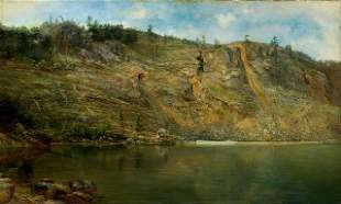 Homer Dodge Martin - The Iron Mine, Port Henry, NY