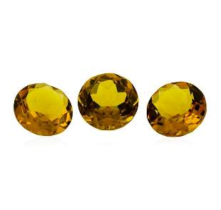 12.71 ctw.Natural Round Cut Citrine Quartz Parcel of