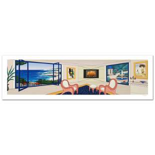 """""""Villa In Big Sur"""" Limited Edition Serigraph By Fanch"""