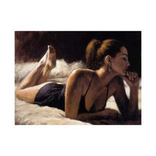 "Fabian Perez, ""Paola In Bed"" Hand Textured Limited"