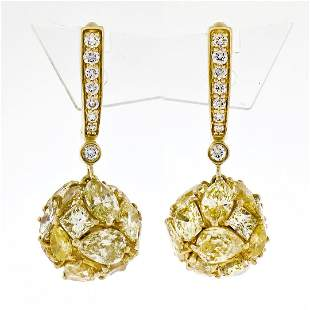 10.13 ctw Fancy Intense Yellow & Brilliant Diamond Drop