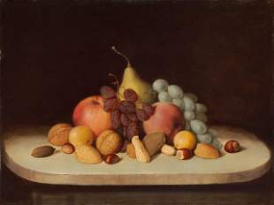Robert Duncanson - Still Life with Fruit and Nuts