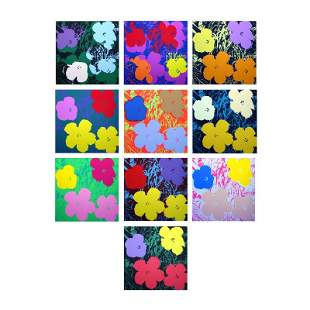 "Andy Warhol ""Flowers Portfolio"" Suite of 10 Silk Screen"