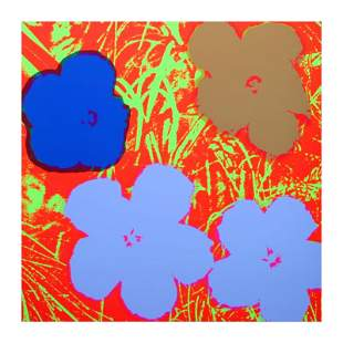 "Andy Warhol ""Flowers 11.69"" Silk Screen Print from"