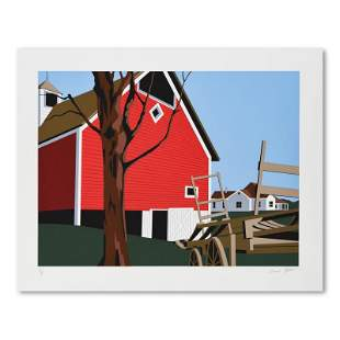 """Armond Fields (1930-2008), """"Red Barn"""" Limited Edition"""