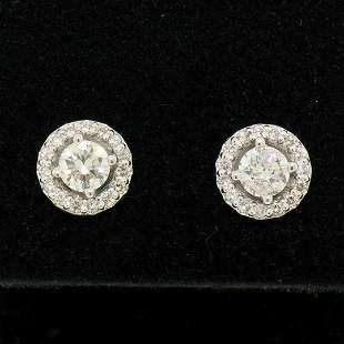 NEW 14k White Gold 1.06 ctw Round Brilliant Diamond