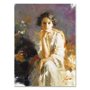 """Pino (1939-2010), """"Yellow Shawl"""" Artist Embellished"""