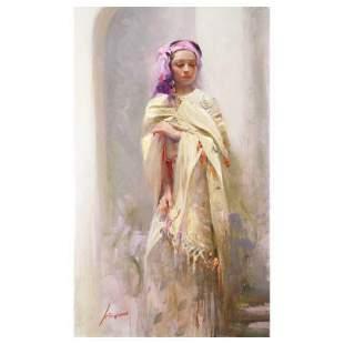 "Pino (1939-2010), ""Silk Shawl"" Artist Embellished"