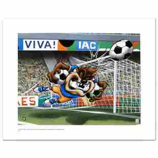 """""""Taz Soccer"""" Limited Edition Giclee from Warner Bros.,"""
